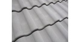 Цементно-песчаная черепица рядовая Kriastak, серый неокрашенный фото