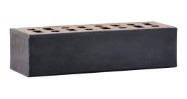 Кирпич клинкерный облицовочный пустотелый ЛСР Рейкьявик черный гладкий 250*85*65 мм фото