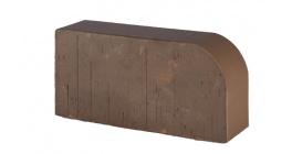 Кирпич керамический облицовочный радиусный полнотелый Lode Brunis F15 гладкий 250*120*65 мм фото