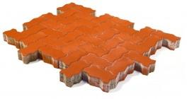 Тротуарная плитка BRAER Волна Красный, 240*135*80 мм фото