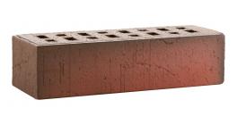 Кирпич клинкерный облицовочный пустотелый ЛСР Ричмонд красный флэшинг винтаж 250*85*65 мм фото