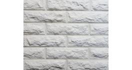 Искусственный камень Балтфасад кирпич Колотый белый 248х62 мм фото