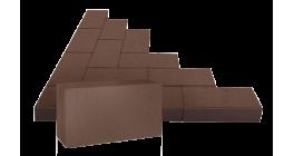 Брусчатка тротуарная клинкерная ЛСР (RAUF Design) Бонн терракотовая, 200*100*50 мм фото