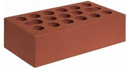 Кирпич керамический облицовочный пустотелый Керма Бордо тёмный гладкий 1NF 250*120*65 мм фото