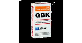 Клеевая смесь для пористого бетона quick-mix GBK зимняя, 25 кг фото
