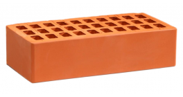 Кирпич керамический облицовочный пустотелый Воротынский Красный гладкий 250*120*65 мм фото