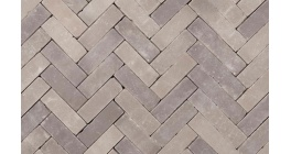 Клинкерная тротуарная брусчатка ручной формовки Penter Lotis onbezand tumbled, 200х65х65 мм фото