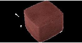 Тротуарная плитка ЦЕМСИС Классика-1 1К.8 красный, 115*115*80 мм фото