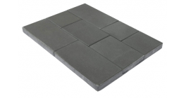 Тротуарная плитка BRAER Триада Серый, 60 мм фото