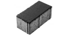 Тротуарная плитка Выбор Брусчатка 7П.8 черный, 200*100*80 мм фото