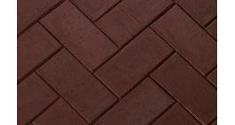Тротуарная клинкерная брусчатка ЛСР Мюнхен коричневая, 200*100*50 мм фото