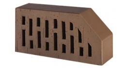 Кирпич керамический облицовочный фигурный пустотелый Lode Brunis F6 гладкий 250*120*65 мм фото