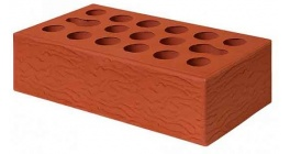 Кирпич керамический облицовочный пустотелый Керма Красный УТ.СТ рустик 1NF 250*120*65 мм фото