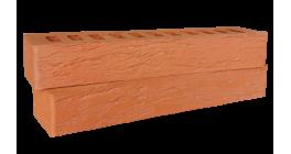 Кирпич керамический облицовочный пустотелый Красная гвардия красный rock 350*85*50 мм фото