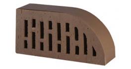 Кирпич керамический облицовочный радиусный пустотелый Lode Brunis F17 гладкий 250*120*65 мм фото
