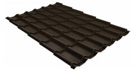 Металлочерепица Гранд Лайн (Grand Line) Classic PE 0.45 RR 32 темно-коричневый фото
