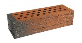 Кирпич керамический облицовочный пустотелый Terca Red flame редуцированный с песком 250*85*65 мм фото