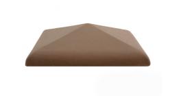 Колпак для забора ZG Clinker C30 коричневый 300*300 мм фото