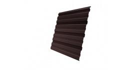 Профнастил фигурный Гранд Лайн (Grand Line) C10, 0,45, шоколад фото