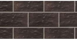 Цокольная плитка клинкерная Stroher Kerabig KS 15 chocolate brown рельефная, 302*148*12 мм фото