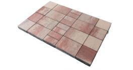 Тротуарная плитка Браер Мозайка Color Mix Фламинго, 60 мм фото