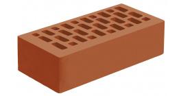 Кирпич керамический облицовочный пустотелый Голицынский КЗ Корица темно-красный гладкий 250*120*65 мм фото