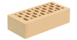 Кирпич керамический облицовочный пустотелый Голицынский КЗ Золотистая дюна желтый гладкий 250*120*65 мм фото