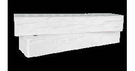 Кирпич керамический облицовочный пустотелый Красная гвардия белый rock 350*85*50 мм фото