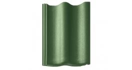 Цементно-песчаная черепица рядовая BRAAS Янтарь зеленый фото