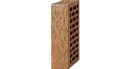 Кирпич керамический облицовочный пустотелый Вышневолоцкая керамика коричневый лава, 250*120*65 мм фото