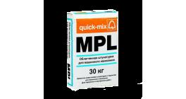 Облегченная штукатурка для машинного нанесения (водооталкивающая) quick-mix MPL wa, 30 кг фото