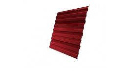 Профнастил фигурный Гранд Лайн (Grand Line) C10, 0,45 PE, красный-рубиновый фото