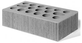 Кирпич керамический облицовочный пустотелый Керма Серебро УТ.СТ бархат 1NF 250*120*65 мм фото