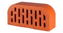 Кирпич керамический облицовочный радиусный пустотелый Lode Janka F14 гладкий 250*120*65 мм фото