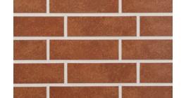 Клинкерная фасадная плитка Stroeher Roccia 841 Rosso гладкая NF10, 240*115*10 фото
