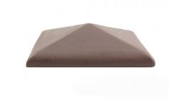Колпак для забора ZG Clinker C38 вишневый 380*380 фото