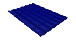 Металлочерепица Гранд Лайн Classic PE 0.45 RAL 5002 ультрамариново-синий фото