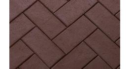 Тротуарная клинкерная брусчатка ЛСР Бонн терракотовая, 200*100*50 мм фото