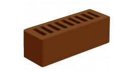 Кирпич керамический облицовочный пустотелый Голицынский КЗ Коричневый гладкий 250*85*65 мм фото