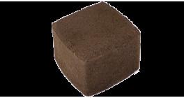 Тротуарная плитка ЦЕМСИС Классика-1 1К.8 коричневый, 115*115*80 мм фото