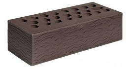 Кирпич керамический облицовочный пустотелый Керма Шоколад УТ.СТ рустик 1NF 250*120*65 мм фото