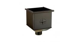 Воронка водосборная АКВАСИСТЕМ (AQUASYSTEM) темно-коричневый (RR32), D 150/100 мм фото