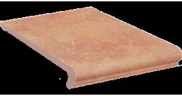 Клинкерная ступень флорентинер Stroeher Keraplatte Roccia 835 sandos, 340x294x12 мм фото