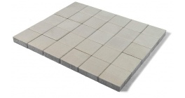 Тротуарная плитка BRAER Лувр Белый, 200*200*60 мм фото