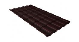 Металлочерепица Гранд Лайн Kredo Satin 0.5 RAL 8017 шоколад фото