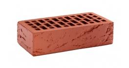Кирпич керамический облицовочный пустотелый КС-керамик Красный кора дерева 250*120*65 мм фото