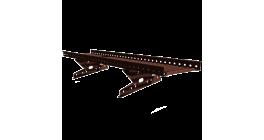 Переходной мостик BORGE RR 32  для фальцевой кровли серо-коричневый, 3 м фото
