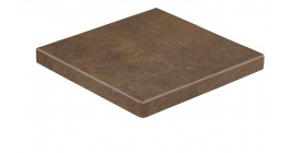 Клинкерная ступень прямоугольная угловая Stroeher Asar 640 Maro, 340*340*35*11 фото