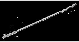 Гибкая связь-анкер Bever DA-Welle для полнотелого основания, 4*300 мм фото