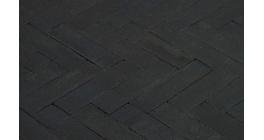 Клинкерная тротуарная брусчатка ручной формовки Penter Nero, 240х65х80 мм фото